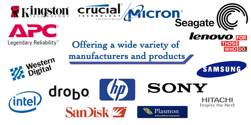 We offer a wide variety of Manufacturers and product types.